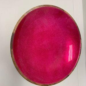 ThristyStone Mango Wood & Enamel Decorative Bowl